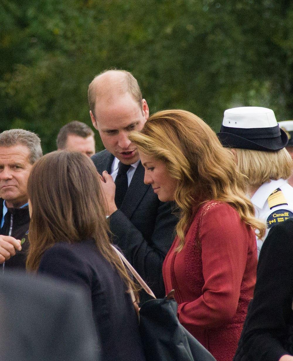 Prince William and Sophie Grégoire Trudeau at Kitsilano Coast Guard Station (Jenni Sheppard/Daily Hive)