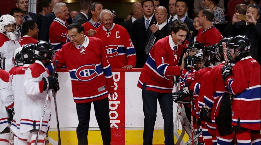 Prime Minister Justin Trudeau met the Montreal Canadiens last Friday