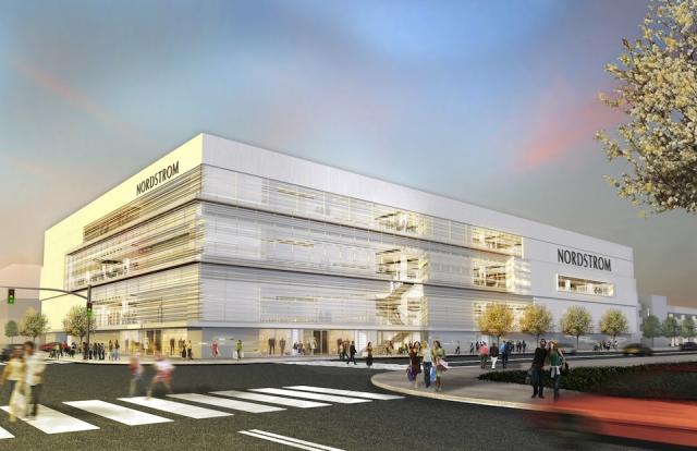 Nordstrom Yorkdale Shopping Centre location, image via Oxford Properties