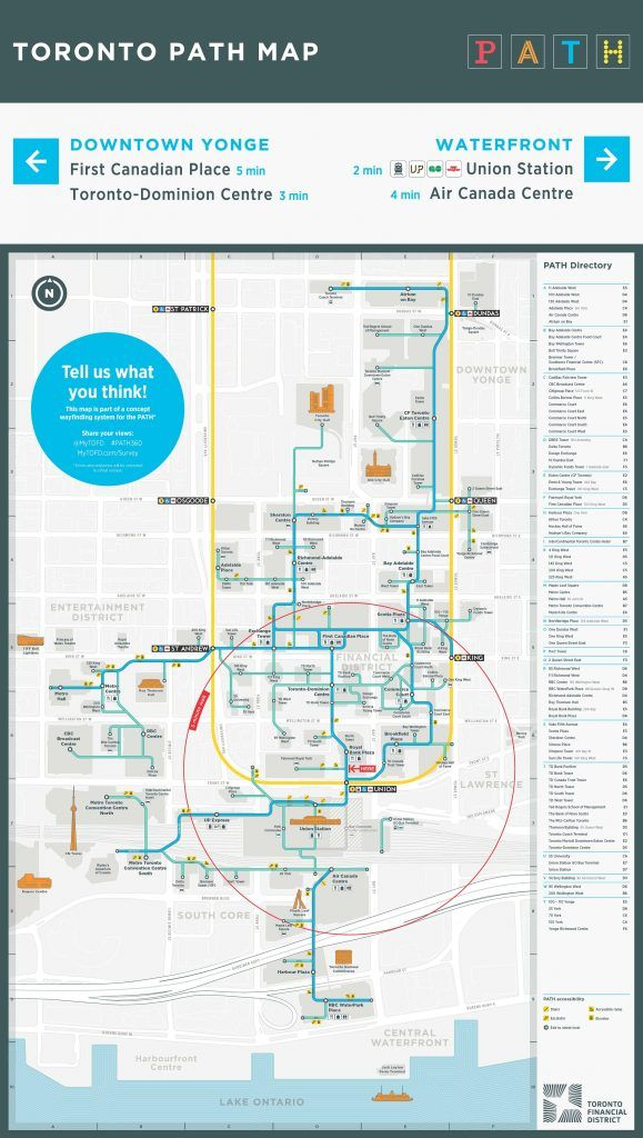 PATH Toronto map