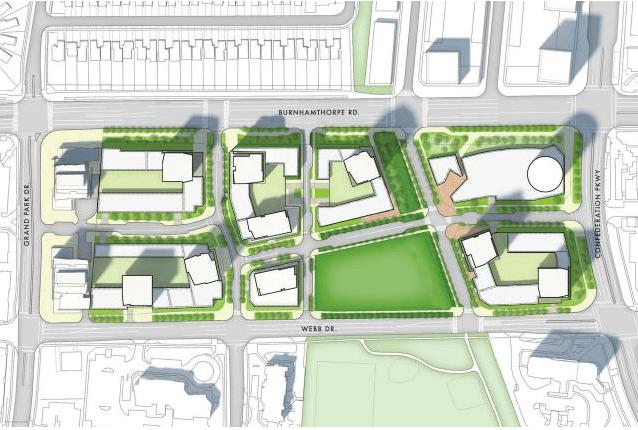 Master plan for M City, image courtesy of Rogers Real Estate Development Ltd.