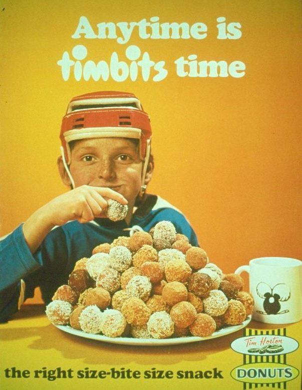 Tim Hortons vintage Timbits ad (Tim Hortons)