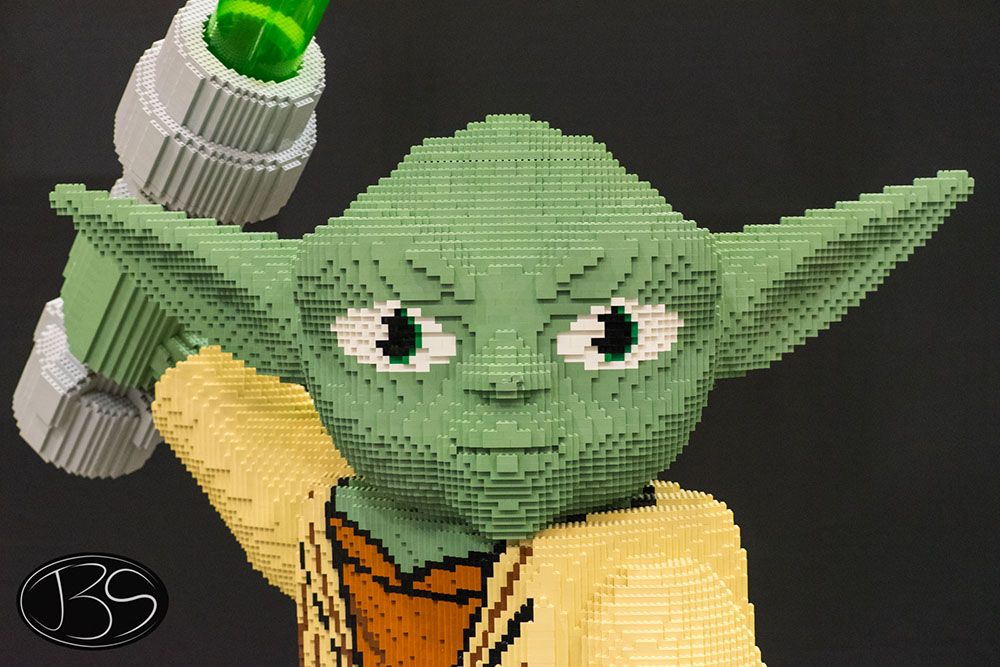 Yoda closeup at the LEGO Imagine Nation Tour in Vancouver (Justin Siu)