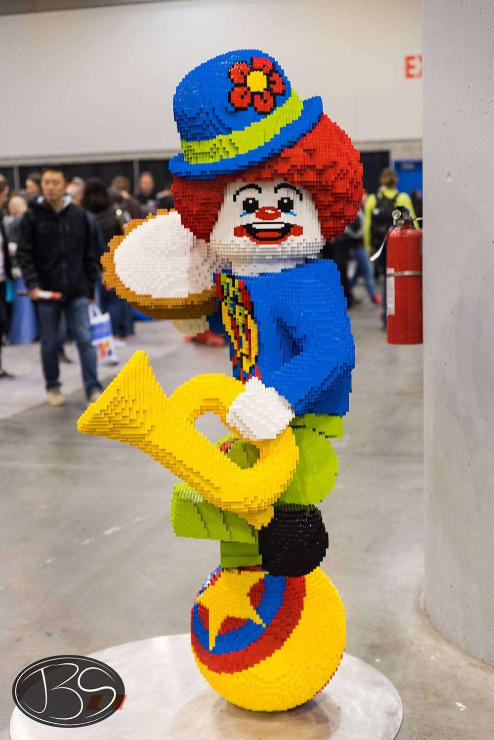 Clown at the LEGO Imagine Nation Tour in Vancouver (Justin Siu)