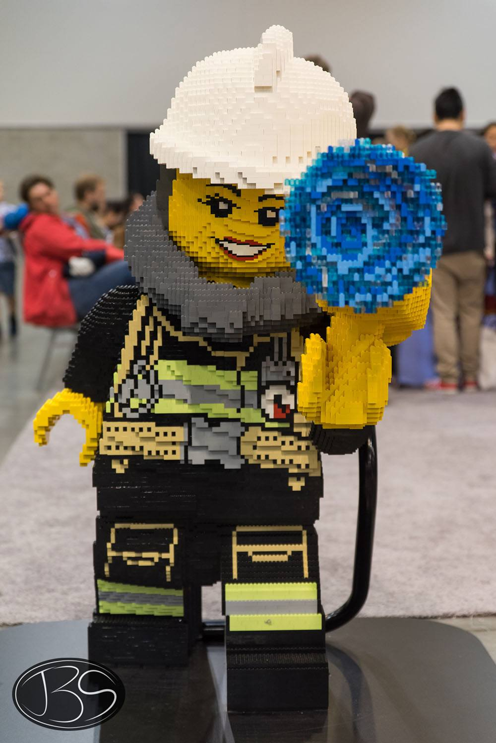 Firefighter at the LEGO Imagine Nation Tour in Vancouver (Justin Siu)
