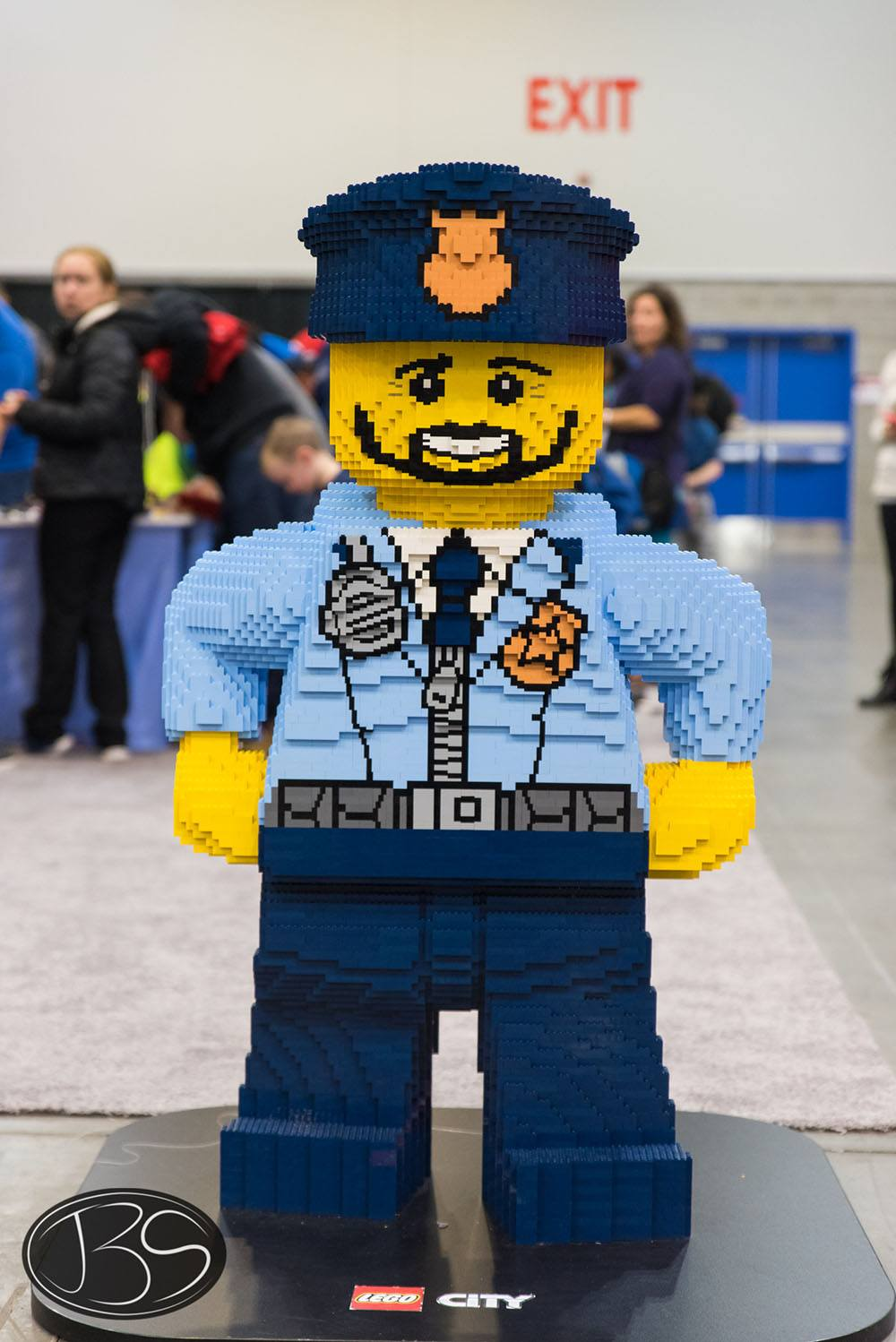 Police officer at the LEGO Imagine Nation Tour in Vancouver (Justin Siu)