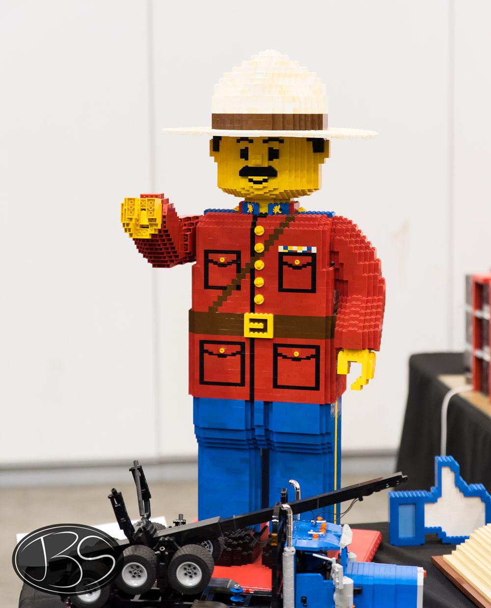 Canadian Mountie at the LEGO Imagine Nation Tour in Vancouver (Justin Siu)