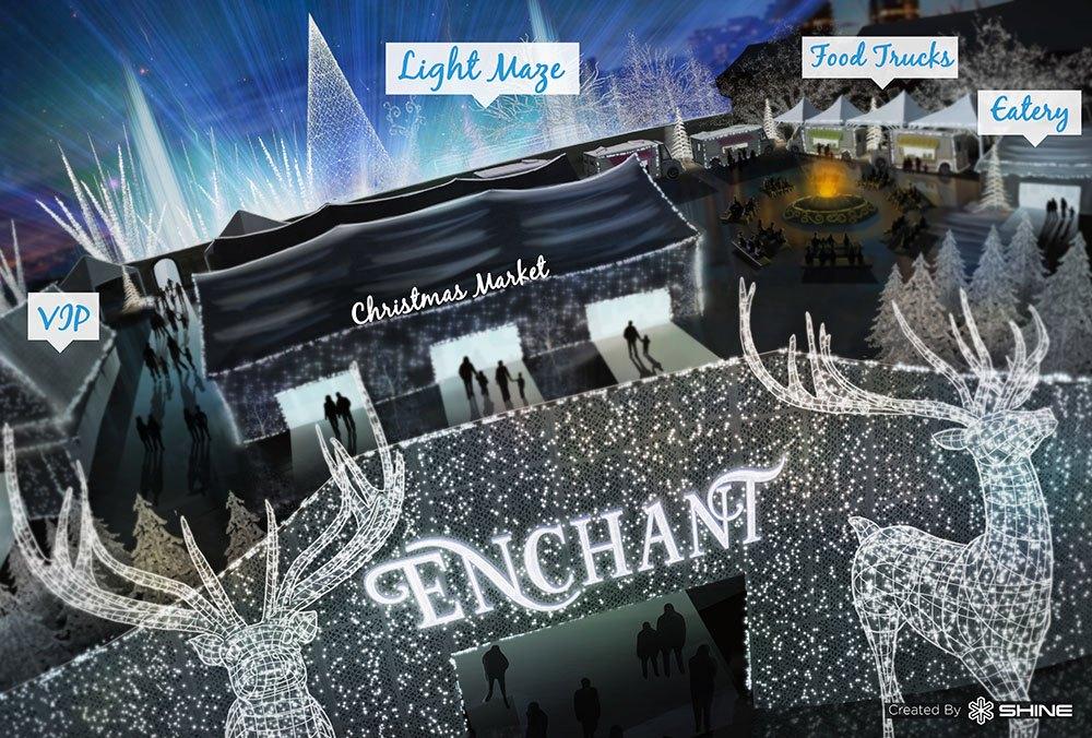 The Enchant Christmas event map (Enchant/SHINE)