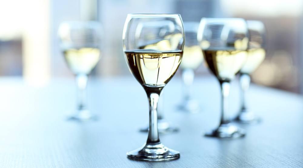 Wine glass blurred