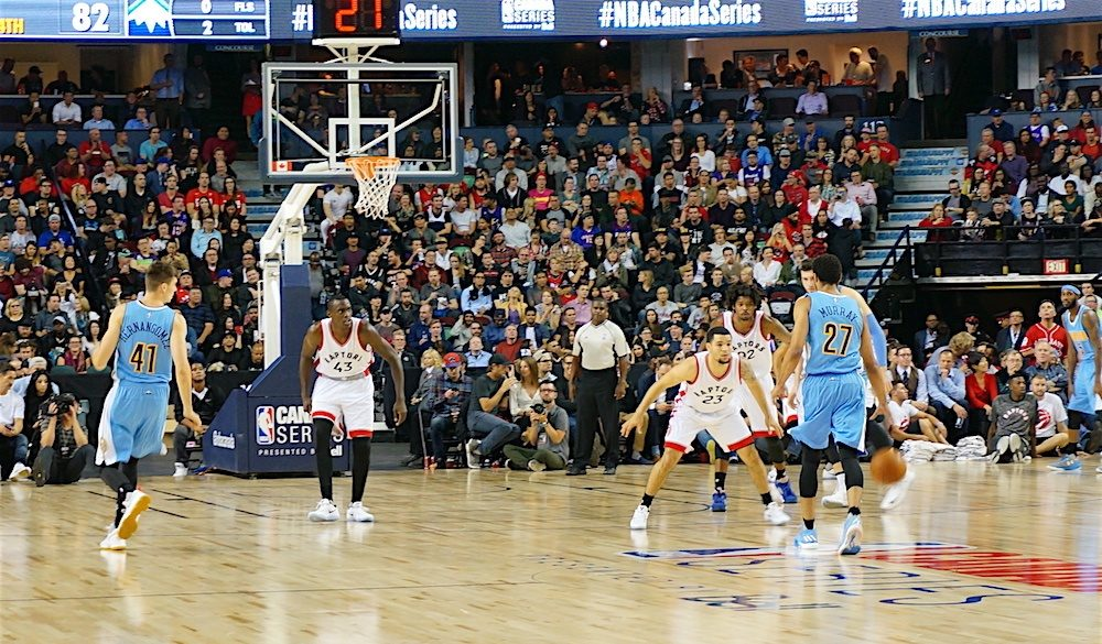 Calgary goes wild for NBA in Raptors-Nuggets preseason matchup (PHOTOS)