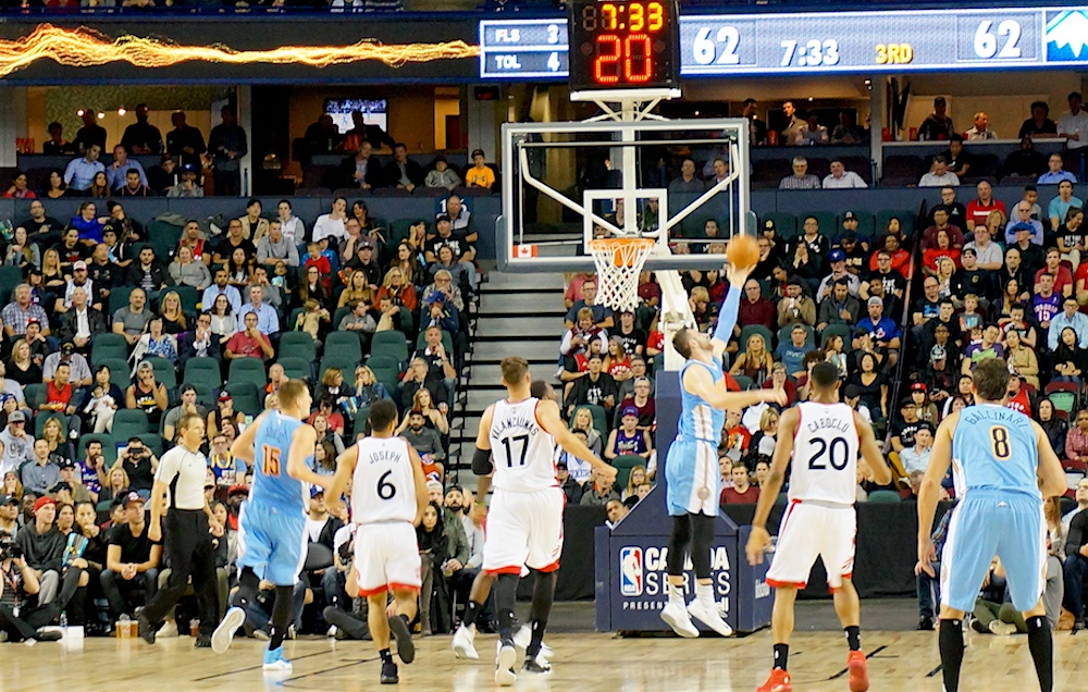 Image: Raptors vs Nuggets (Daily Hive Calgary)