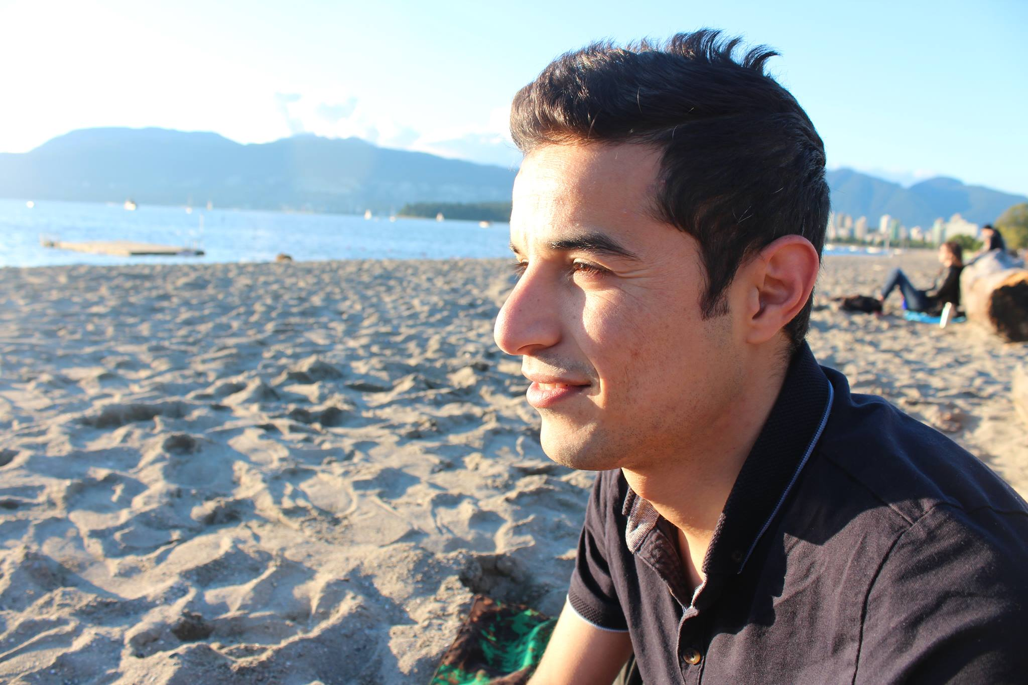 Mohammed Alsaleh, who came to Canada as a refugee from Syria, in Vancouver (PeaceGeeks)