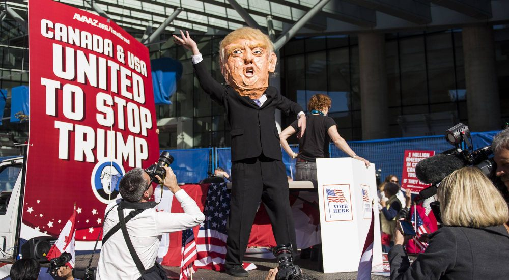 11 photos of the Stop Trump rally at Vancouver's Trump Tower