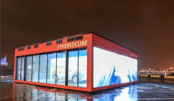 """Contents of mysterious """"red cube""""at Waterfront Station to be unveiled tonight"""