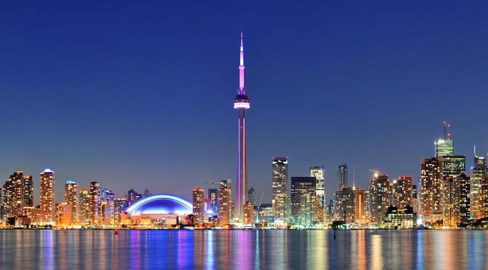 Toronto skyline lake ontario