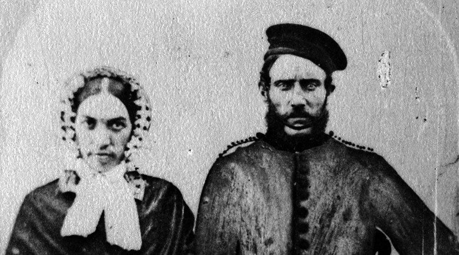 Mr and mrs john lynn circa 1865 c. cva 371 1257