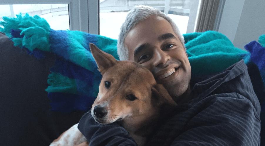 Rescue Me: Riaz Meghji's smiling rescue dog
