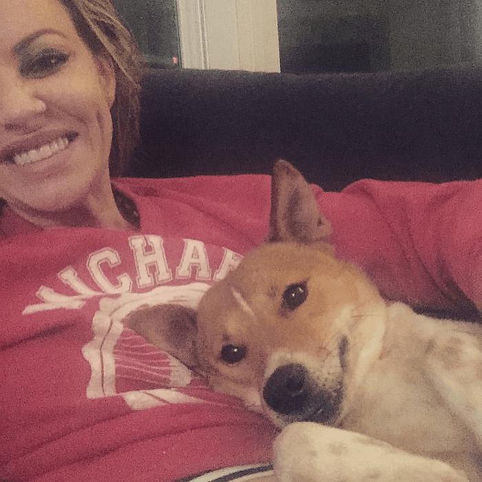 Lori and Smiley at home.