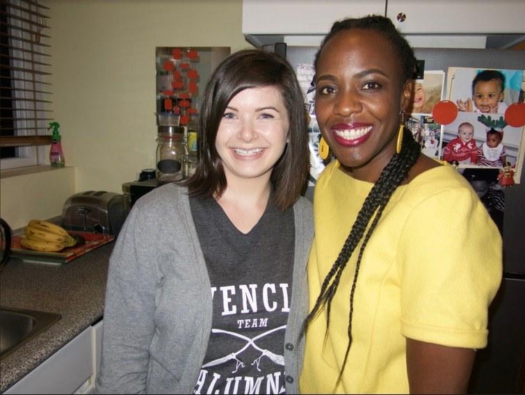 Jackee Kasandy (right) and Leah Davison (left)