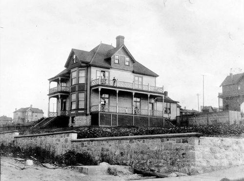 1270 Melville Street in 1890, on the same block as the house where Thomas Jackson was murdered. Photo from City of Vancouver Archives #Bu P221