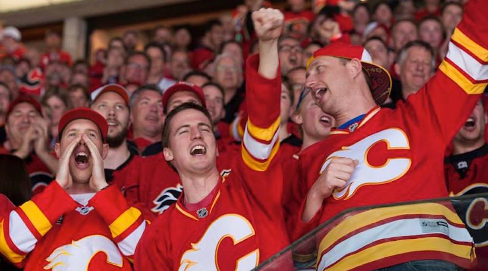 Flames fans