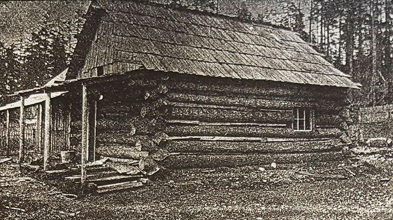 An image of Jack Green's cabin on Savary Island