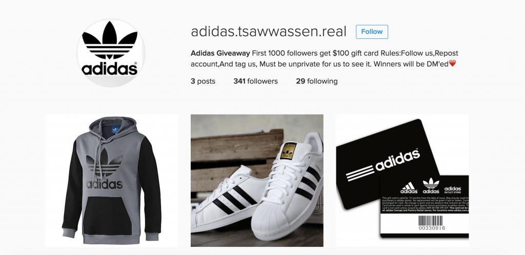 Tsawwassen Mills fake Instagram 3