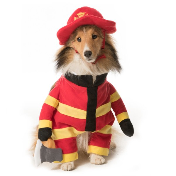 Firefighter costume from PetSmart