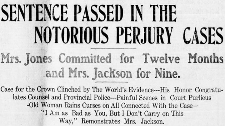 Headline from the Vancouver Daily World, 7 February 1906.