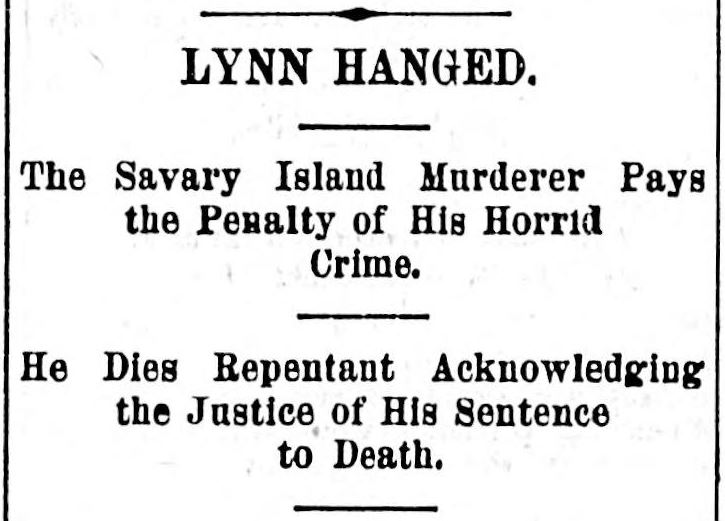 Headline from the Victoria Daily Colonist, 25 August 1894