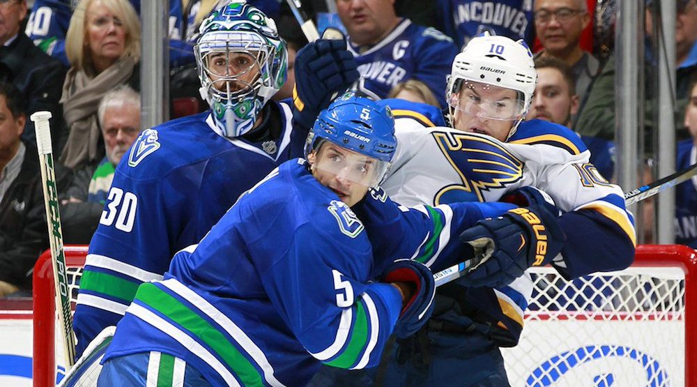 Canucks take on Blues in battle of undefeated teams