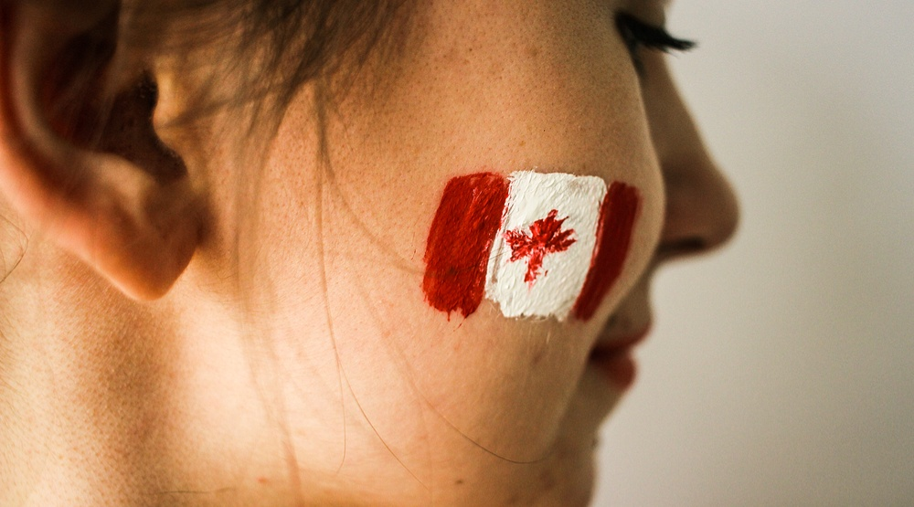 Woman canadian flag shutterstock