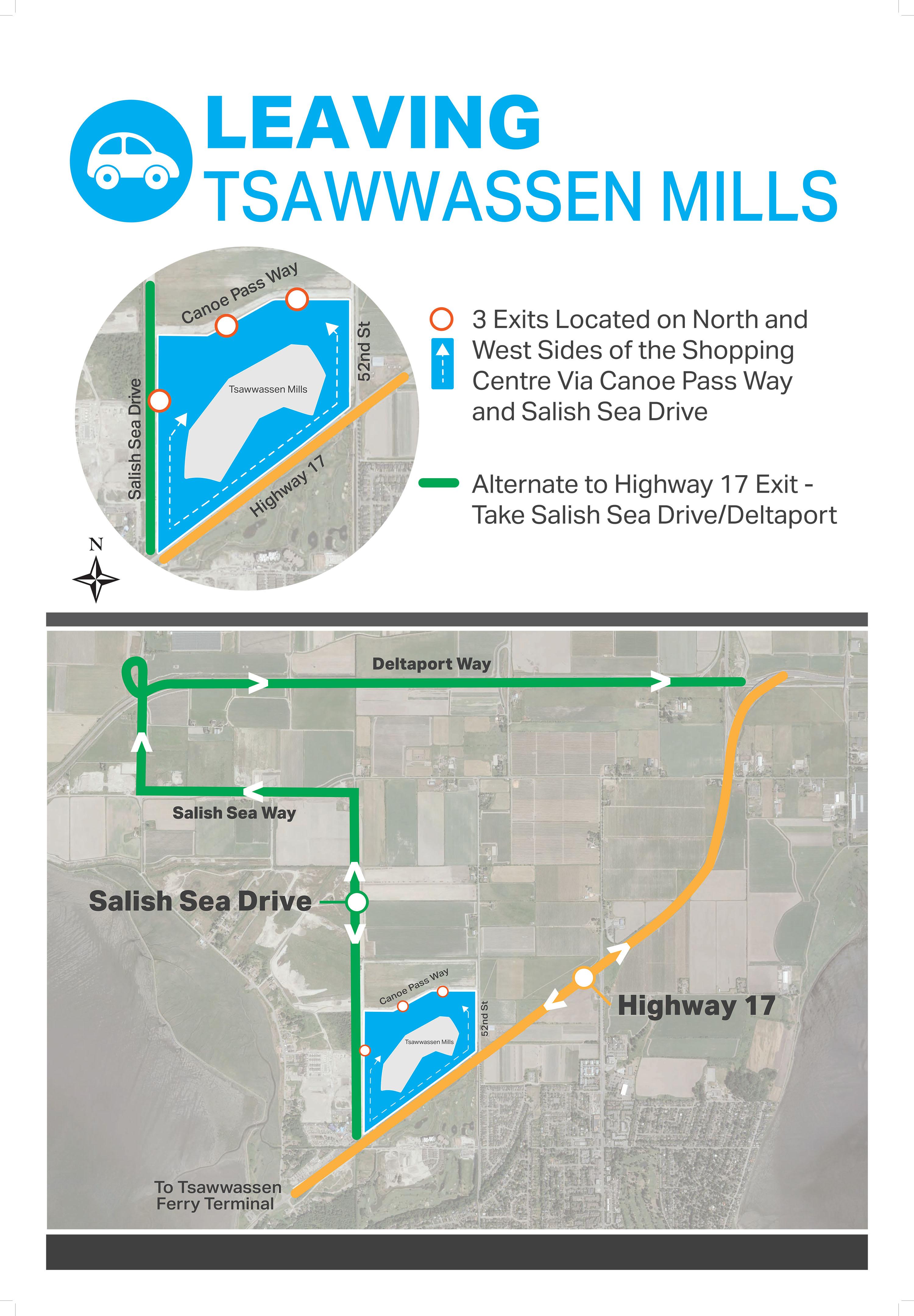 How to exit Tsawwassen Mills parking lot (Tsawwassen Mills)