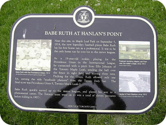 Toronto Island Hanlan's Point Baseball