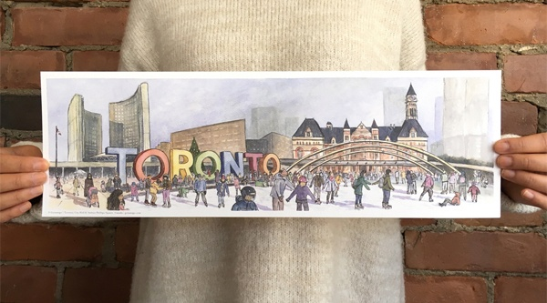 Did a Toronto illustrator capture you getting engaged in this beautiful art work?