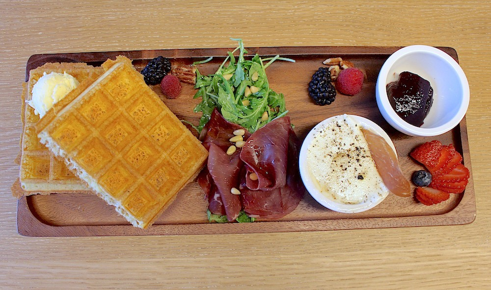 Brussels waffle tapas board Lindsay William-Ross/Daily Hive)