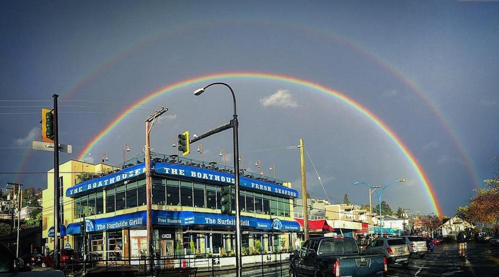 Vancouver white rock rainbow storm weather
