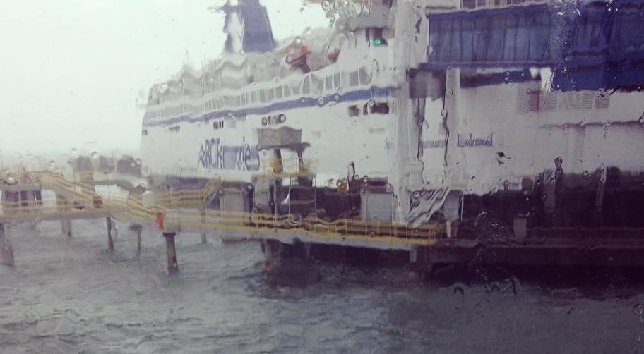 A bc ferries boat in the rainstorm on friday instagram