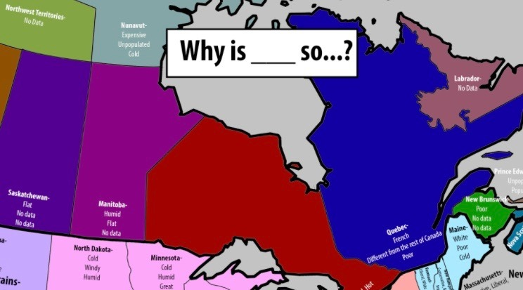 Reddit user reveals most Googled questions about Canadian provinces