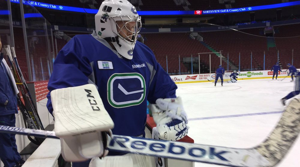 Where is Chris Levesque? Canucks call-up emergency backup goalie from UBC