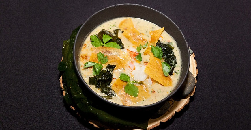 lobster miso chowder