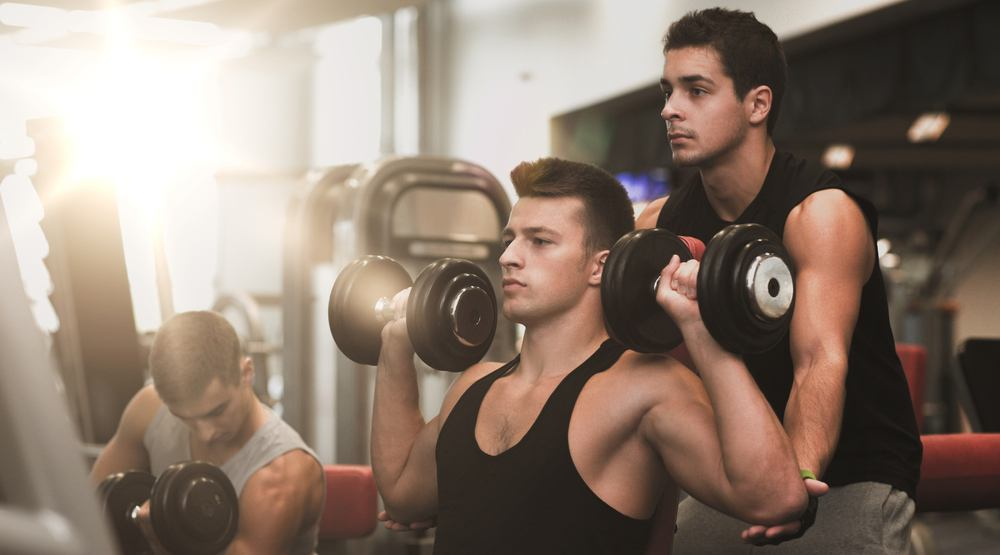 Fitness gym sexy men male