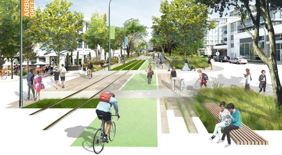 A rendering of one possible final design for the future Arbutus Greenway (City of Vancouver)