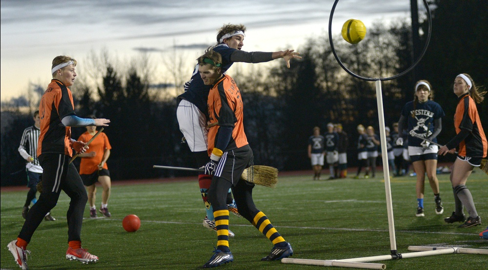 You can watch quidditch in downtown Montreal
