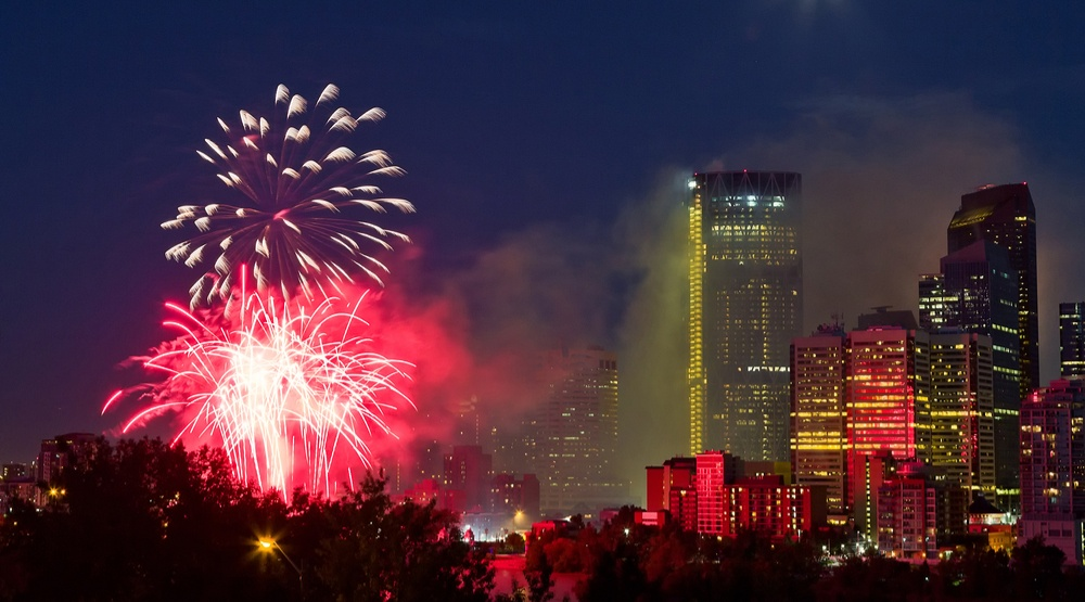 Catch a fireworks show at the Stampede grounds every night until Saturday