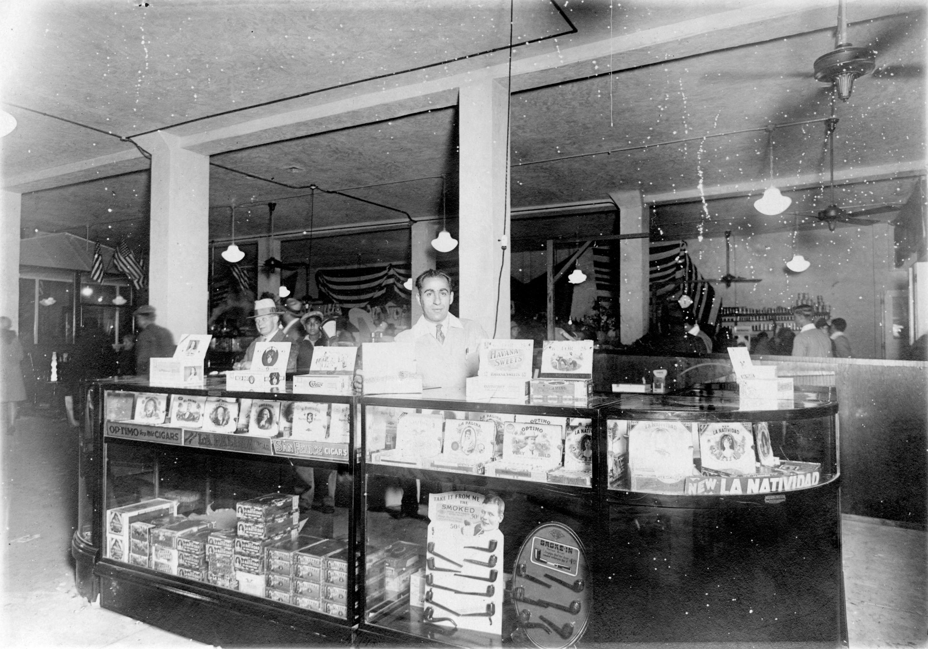 A cigar concession stand inside Woodward's Department Store in the 1920s (Woodward's Stores Limited)