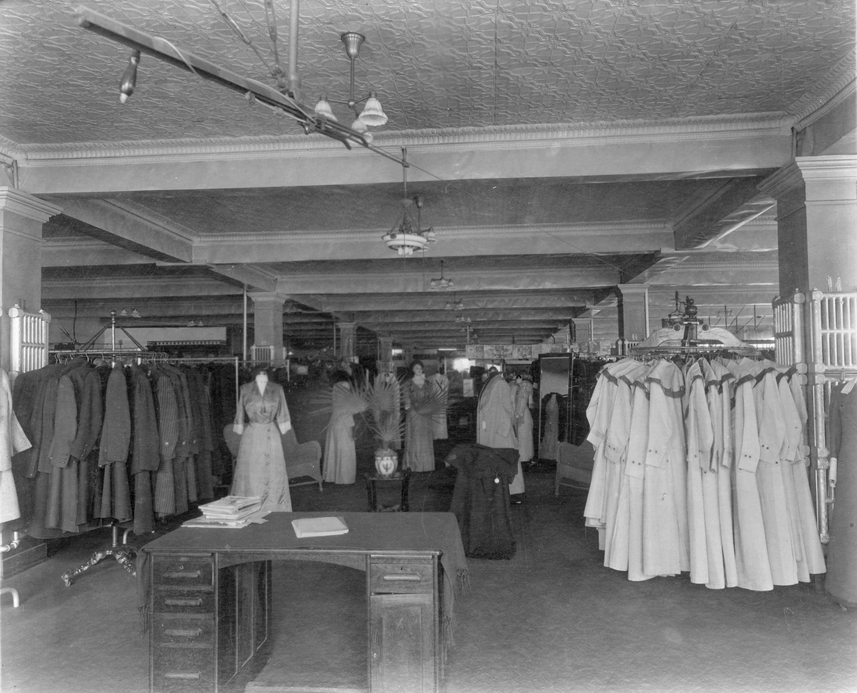 Inside the ladies department at Woodward's Department Store in 1910 (Woodward's Stores Limited)
