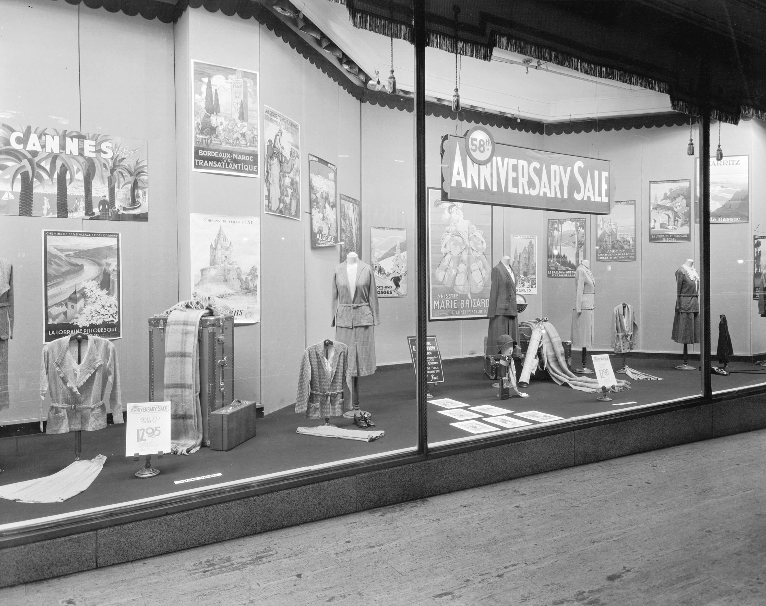 Poster exhibition and merchandise display in Spencer's Department Store in 1931 (Stuart Thomson)