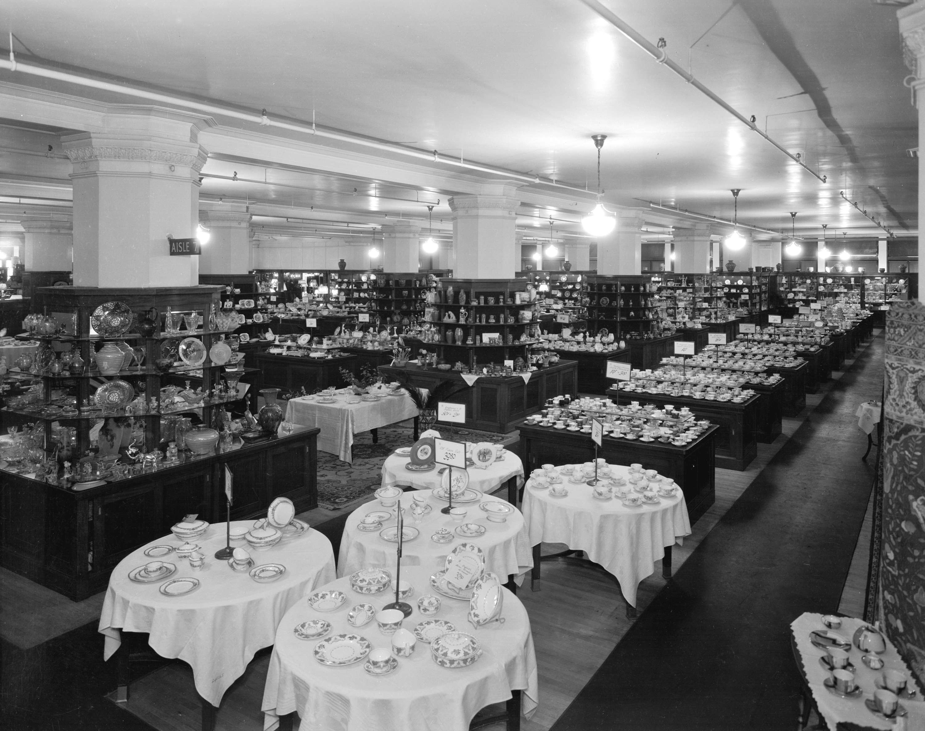 The china department at Hudson's Bay in 1931 (Stuart Thomson/HBC)