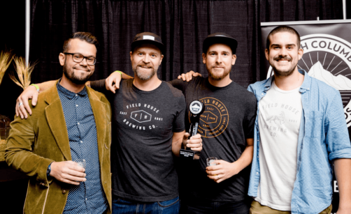 Team from Field House Brewing Co. accepting their award/BC Beer Awards